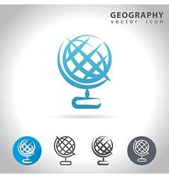 geofraphy blue icon vector image