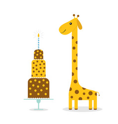 giraffe spot long neck cute cartoon character vector image