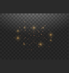 gold star dust trail sparkling particles isolated vector image