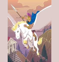 Greek hero bellerophon vector