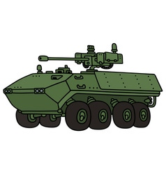 Green armoured vehicle vector