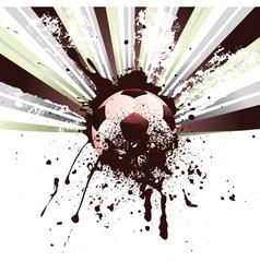 Grunge Soccer2 vector image