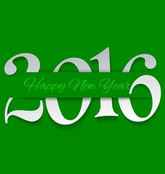 Happy New Year 2016 Cut from Paper vector image