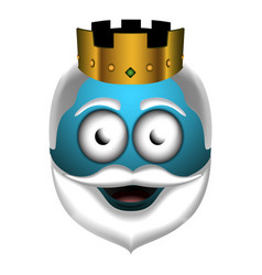 Happy wise man emoji vector