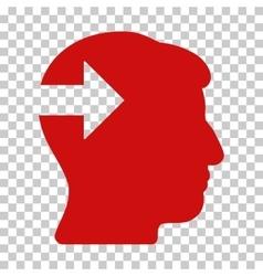 Head Plug-In Arrow Icon vector