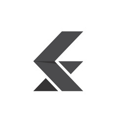 initial letter k s logo template with arrow vector image