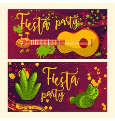 Invitation for fiesta festival vector