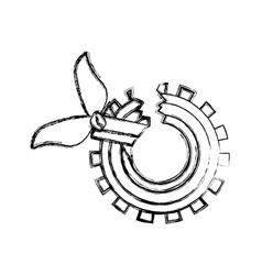 Isolatd broken gear design vector