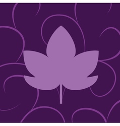 leaf of grape violet vector image