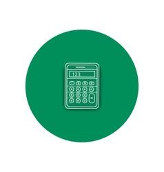 Line icon of calculator vector image
