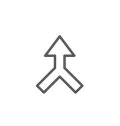 merged arrow icon symbol isolated on white vector image