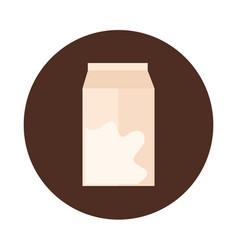 milk box liquid food product block and flat icon vector image