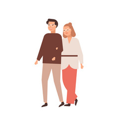 Modern middle-aged couple flat vector