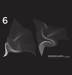 Modern shape technological background vector
