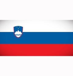 national flag slovenia vector image