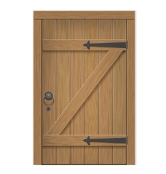 Old wooden door vector