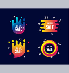 one day sale special offer price sign vector image