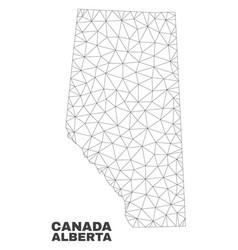 Polygonal mesh alberta province map vector