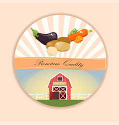 potatoes retro label design vector image