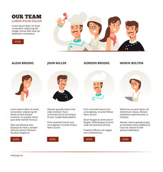 reataurant cafe team teamwork concept with vector image