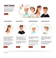 restaurant cafe team teamwork concept vector image