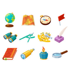 science and geography tool set education concept vector image