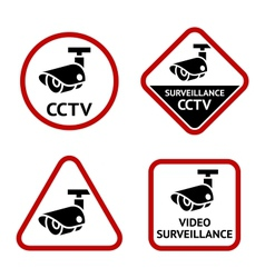 Security camera sticky labels vector image