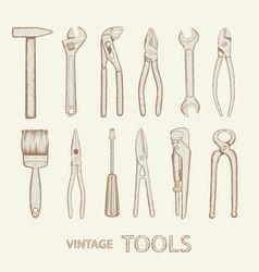 set industrial tools vector image