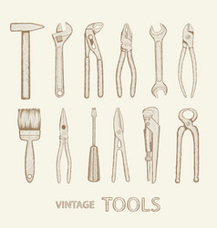 set of industrial tools vector image