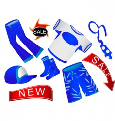 shop of clothes vector image