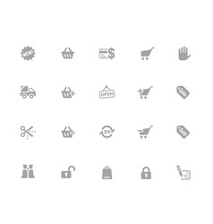 shopping icons 32 pixels icons white series vector image
