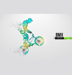 silhouette a bmx rider thanks for watching vector image