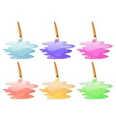 Six paint options vector