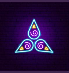 spiritual neon sign vector image