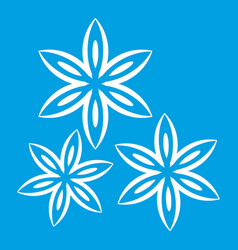 Star anise icon white vector