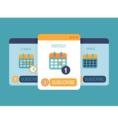 Subscription business model vector