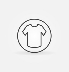 t-shirt in circle linear icon vector image