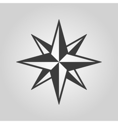 The star icon Star symbol Flat vector image