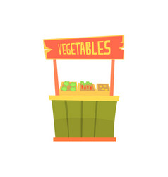 traditional wooden kiosk with vegetables fixed vector image