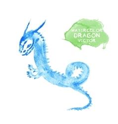 Watercolor dragon vector