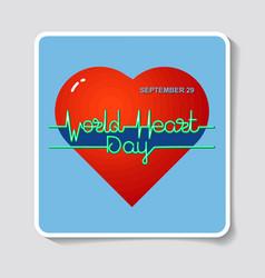 World heart day vector