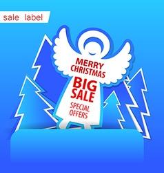 Merry Christmas sale vector image