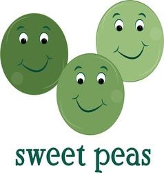 Sweet peas vector