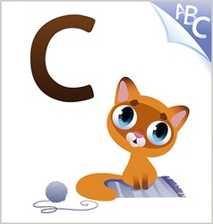 Animal alphabet for the kids C for the Cat vector image vector image