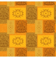Seamless background ups and floral pattern vector image