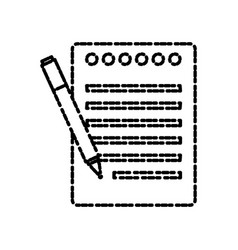 sheet office and pen vector image