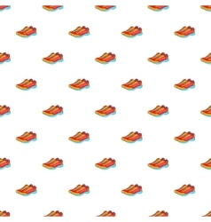 Sport sneakers pattern cartoon style vector