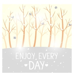 trees winter vector image vector image