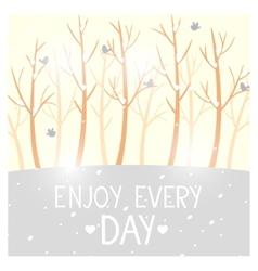 trees winter vector image