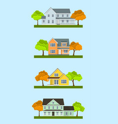 cottage houses set vector image vector image